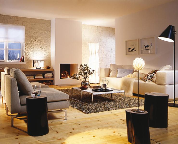 Im Wohnzimmer Bieten Sich Viele Mglichkeiten Mit Indirektem Licht Zu Arbeiten Um Trotz Vieler Leuchten