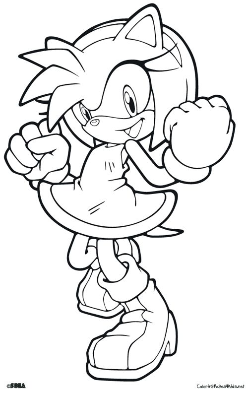 happy printable sonic coloring pages Leland stuff Pinterest