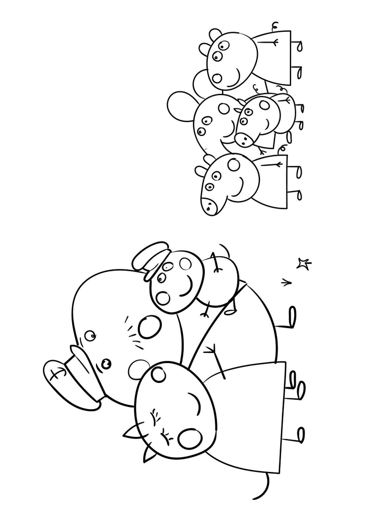 54 Disegni Di Peppa Pig Da Colorare Nel 2020 Peppa Pig Disegni Peppa