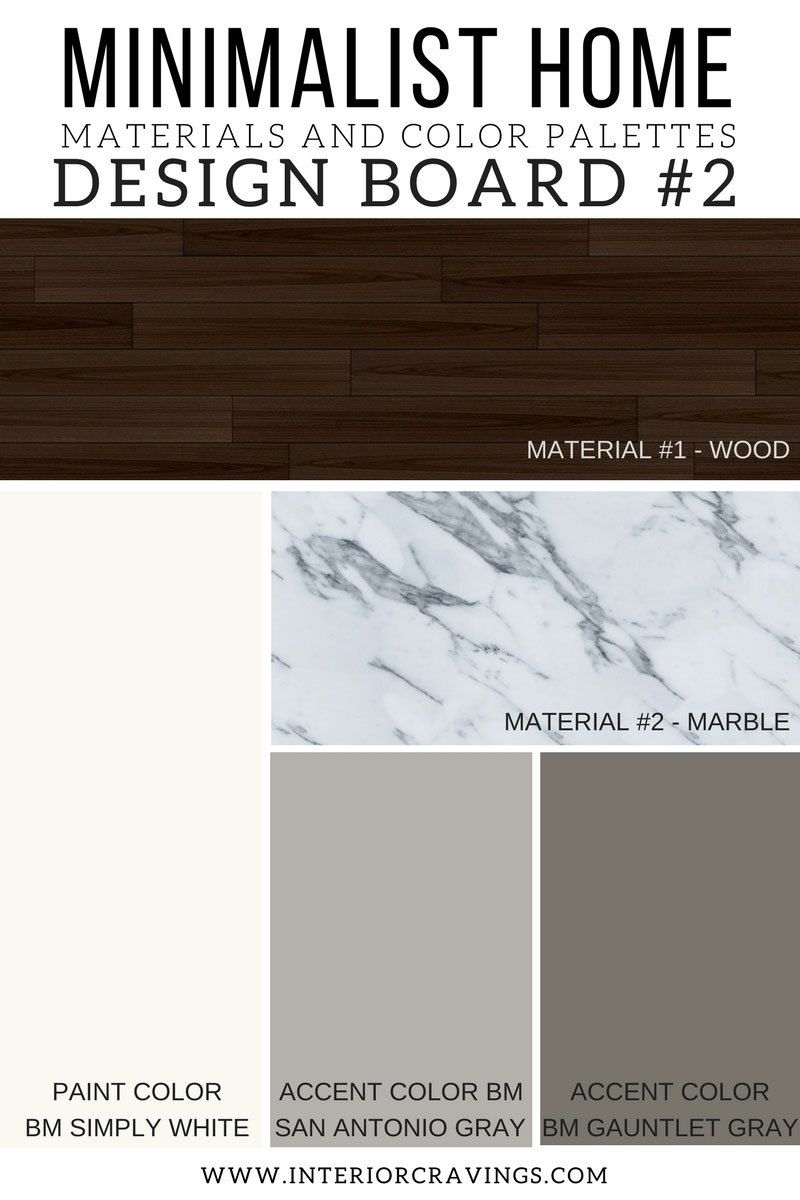 MINIMALIST HOME ESSENTIALS: MATERIALS AND COLOR PALETTE ...