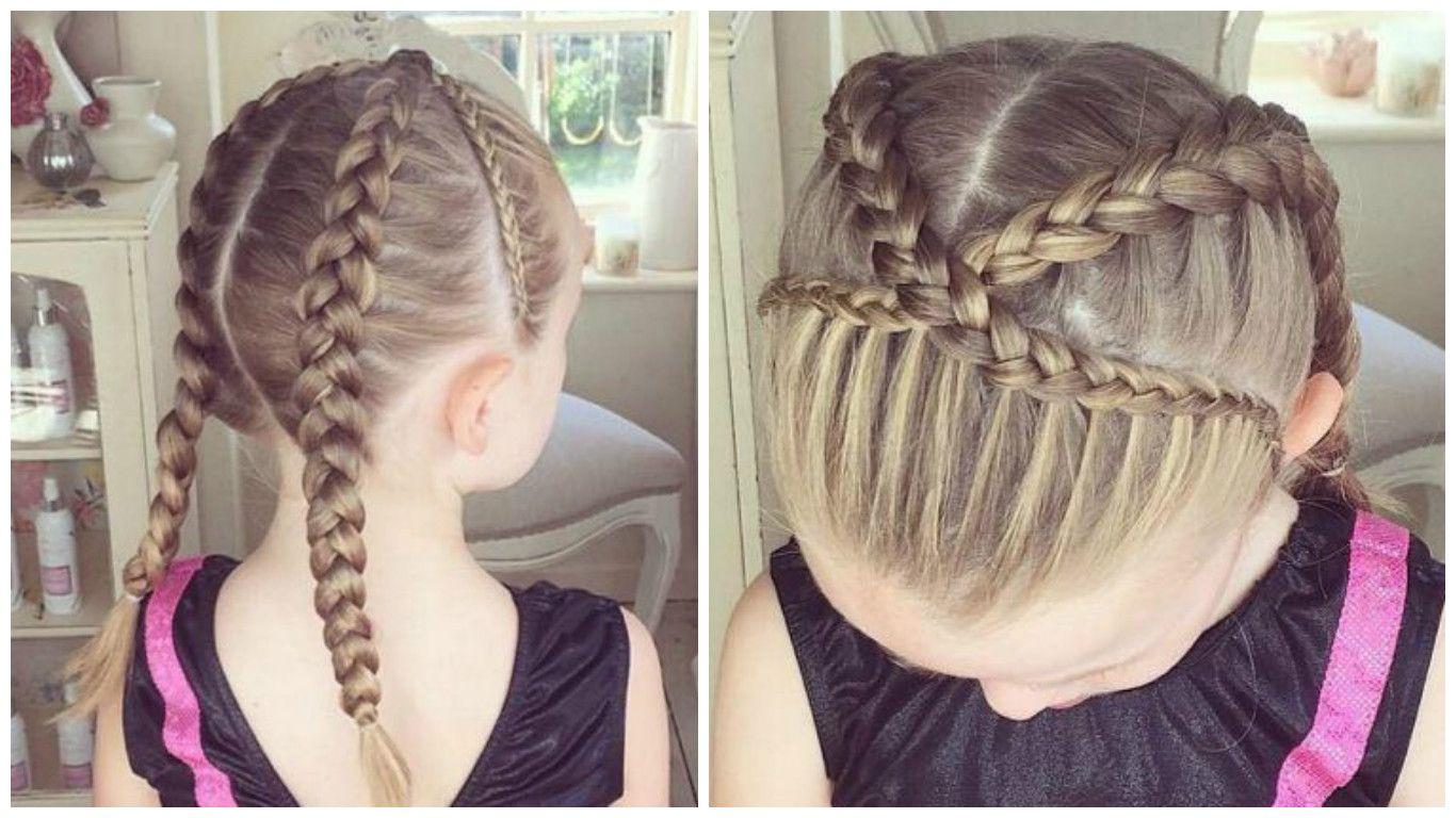 Peinados para niñas cabello largo recogido