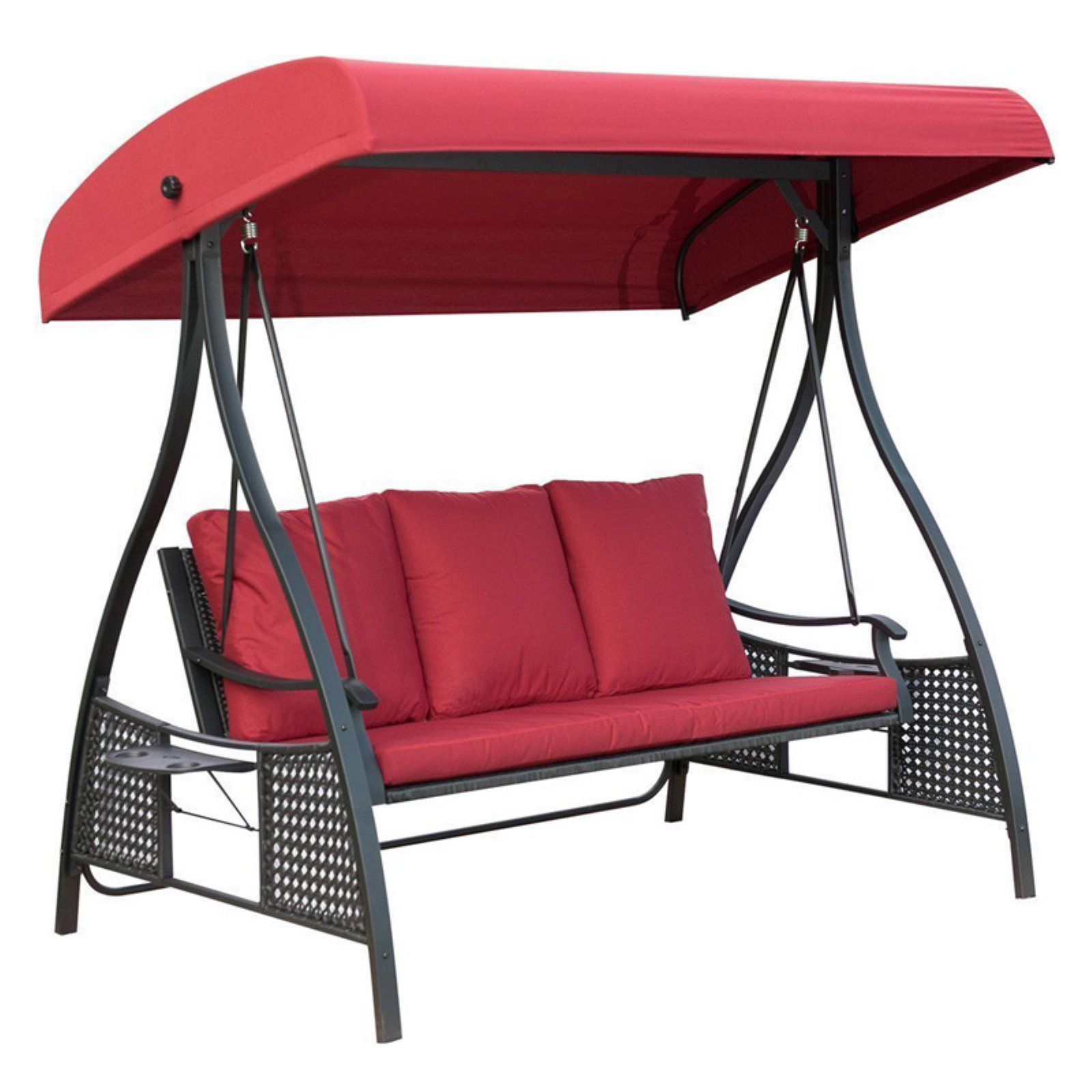 PatioPost 3 Seat Porch Swing with Frame and Canopy  sc 1 st  Pinterest & PatioPost 3 Seat Porch Swing with Frame and Canopy in 2019 ...