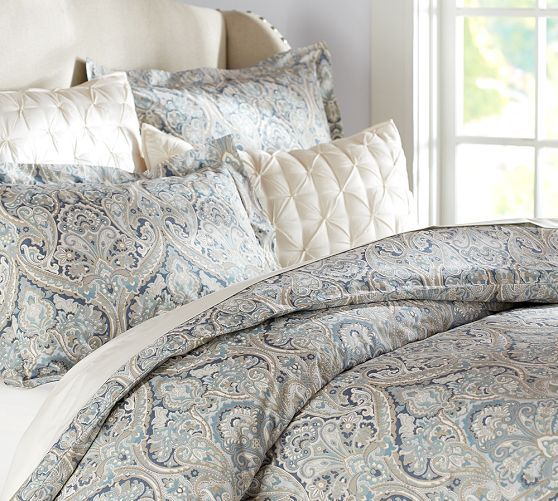 Pottery Barn Paisley Is On Trend And The Colours Are Really Soft