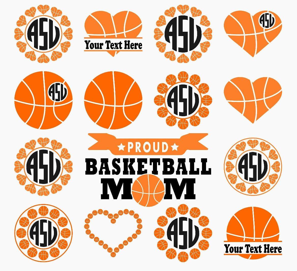 Basketball Svg, Basketball Monogram Svg, Basketball
