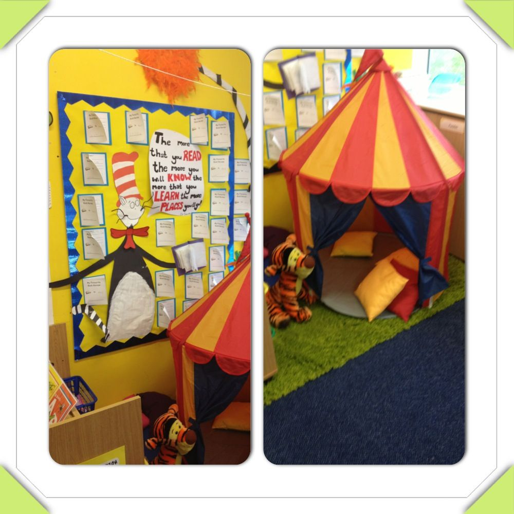 Dr Seuss Inspired Book Corner With Ikea Tent, Books