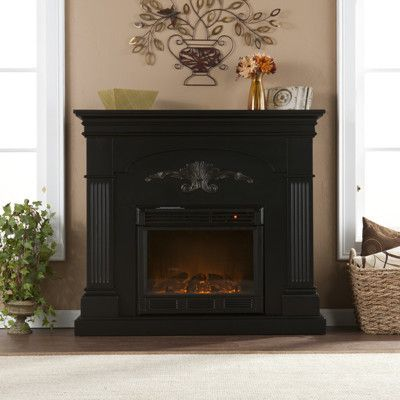 New Florentine Electric Fireplace in Black