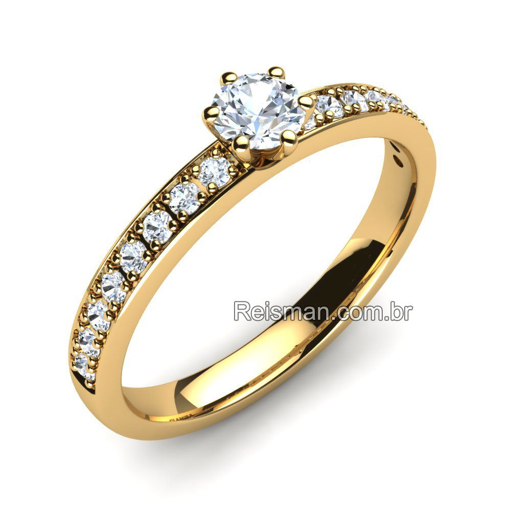Anel de Noivado Solitario Diamante   Casamento   Pinterest   Anel de ... 3656a3a824