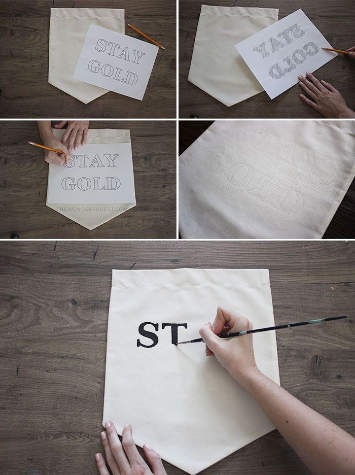 Make Your Own Hanging Wall Banner With Quote Wonder Forest Wall Banner Diy Decor Projects Diy Banner