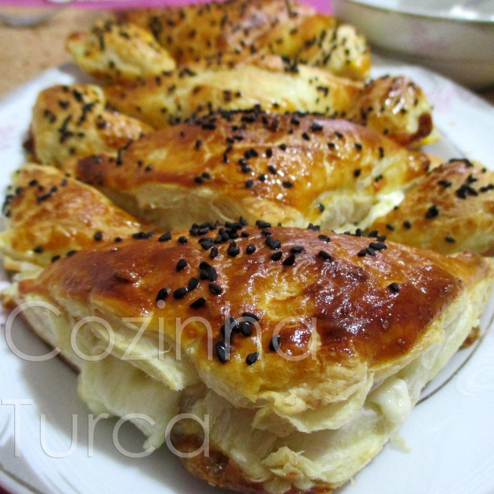 Cozinha Turca: Folhados de Queijo (Peynirli Milföy Börek)