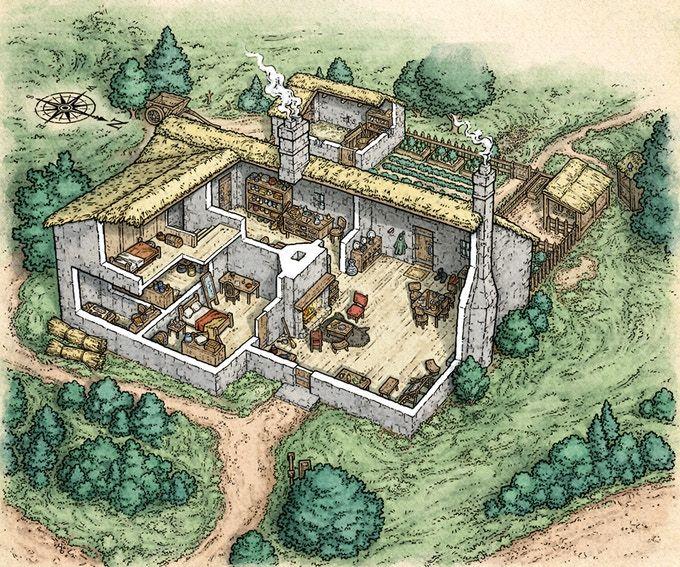 Fantasy Map, Fantasy City