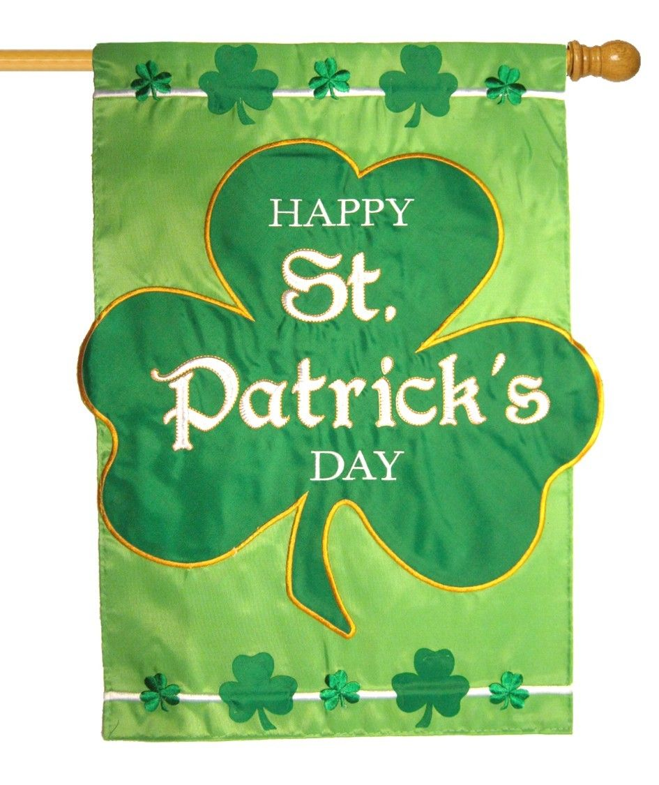 IAmEricas Flags - Happy St. Patrick\'s Day Applique House Flag ...
