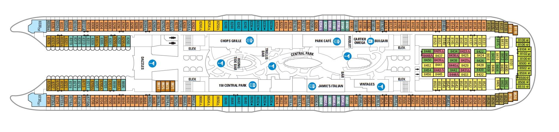Harmony of the seas deck 8 updated on deck plans pinterest harmony of the seas deck 8 updated on deck plans baanklon Gallery