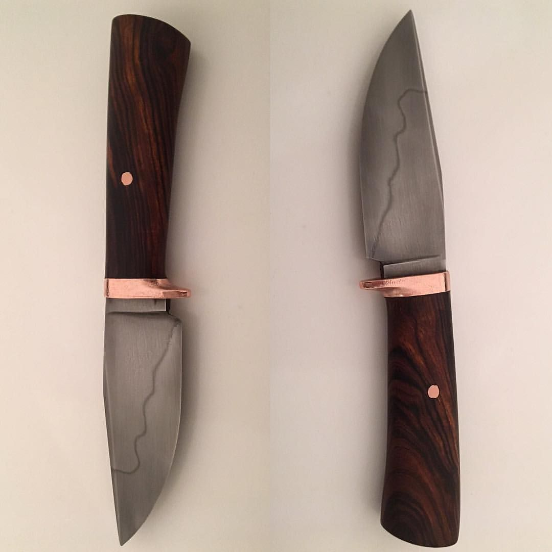 542 Likes 19 Comments Will Stelter Stelter Edgeworks On Instagram W2 Copper Ironwood Pocket Fighter Ready For Makers Mark Makers Mark Blade Hand Forged