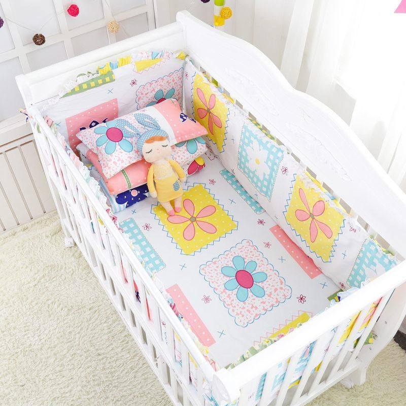 7pc Cute Elephant Baby Cotton Bedding Set Crib Bedding Baby Bed Cotton Baby Bedding