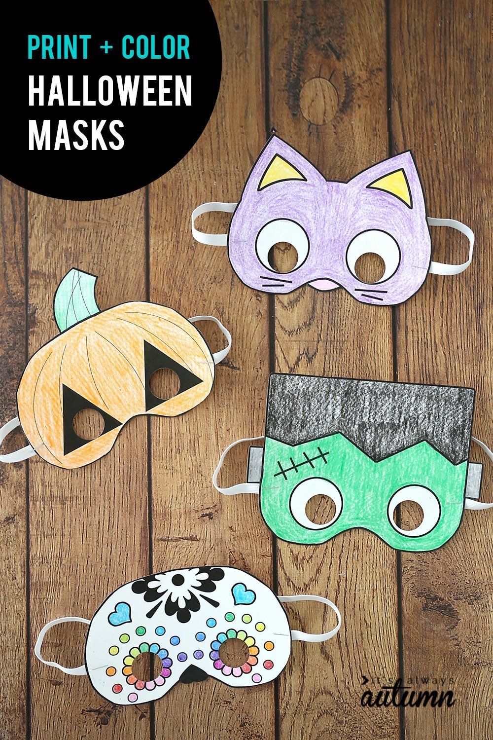 Coloring Activities for 1 Year Olds Fresh Halloween Masks ...