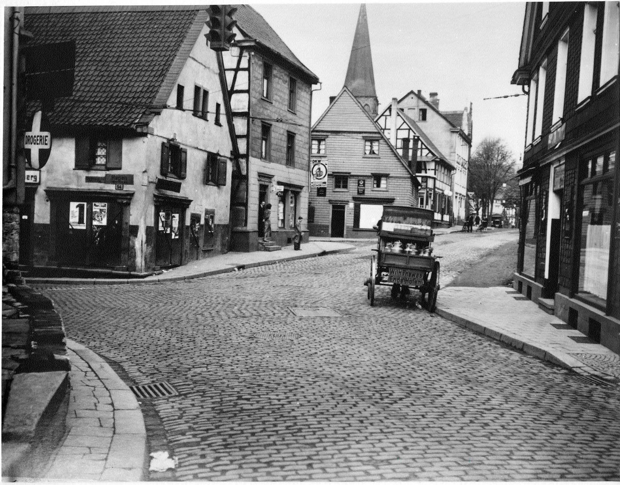 Hauptstraße, Ecke Wetterstraße, Herdecke, Westfalen, 30er