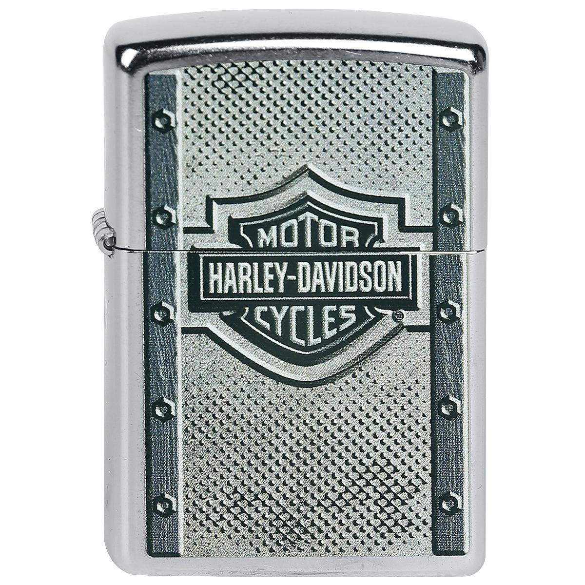 """#Zippo originale a benzina """"Harley-Davidson"""" del brand Spiral. Per motivi ti sicurezza, l'accendino viene consegnato scarico."""