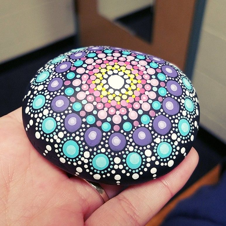 Easy Dot Art Mandala Rock Painting Novocom Top