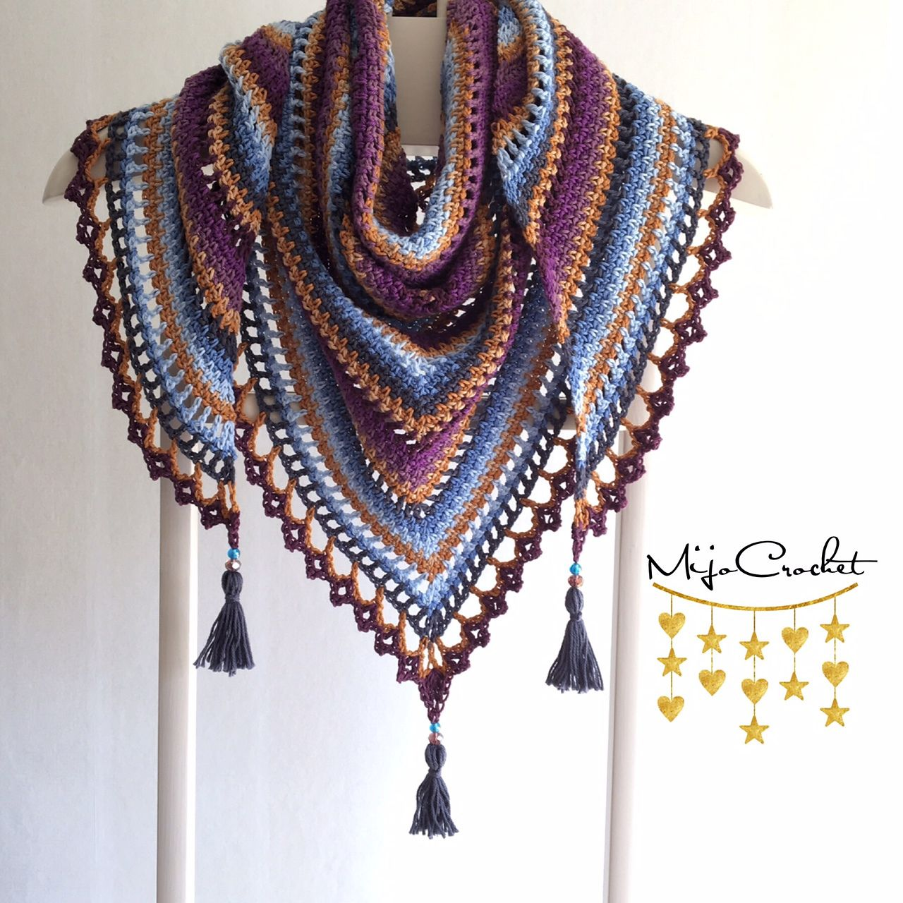 taiga shawl by johanna lindahl free crochet pattern