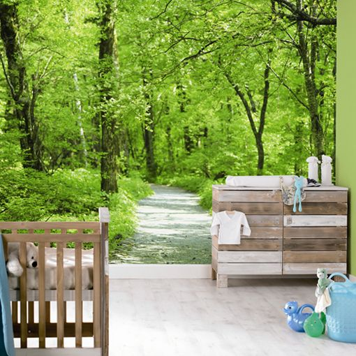 Woodland Mural from Tangletree Interiors