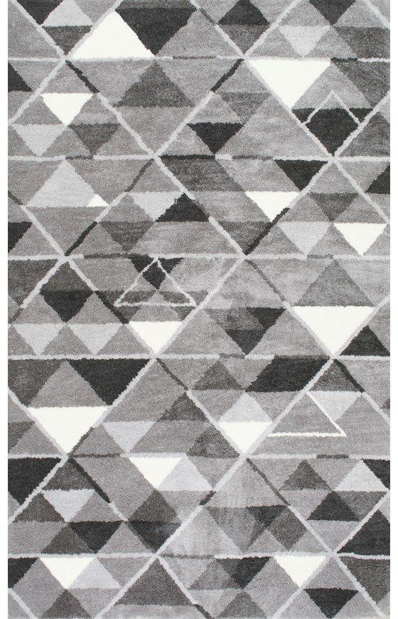 MillertonHD03 Hand Tufted Mosaic Triangle Trellis Rug