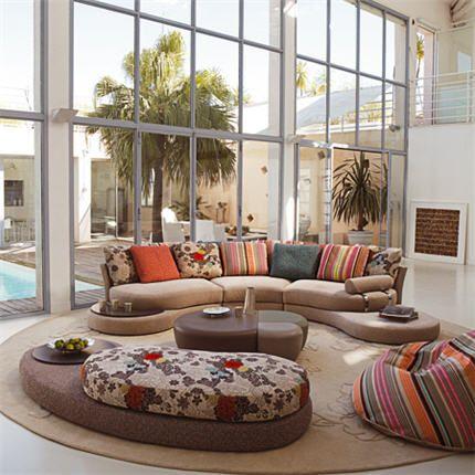 Roche Bobois Con Telas De Kenzo Living Room Design Modern Contemporary Living Room Sofa Modern Furniture Living Room