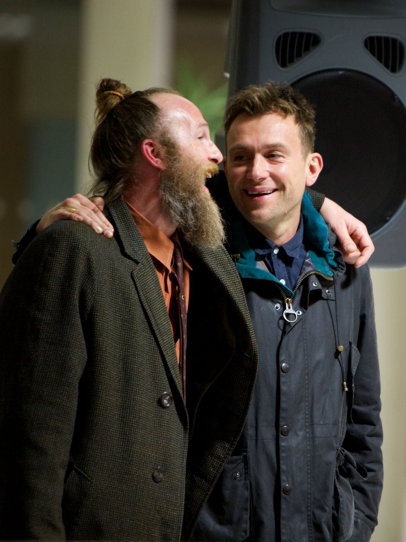 Alumnus Paul Kaye alongside Damon Albarn at #since1843 #inthemaking exhibition! Visit ntu170years.co.uk for more details