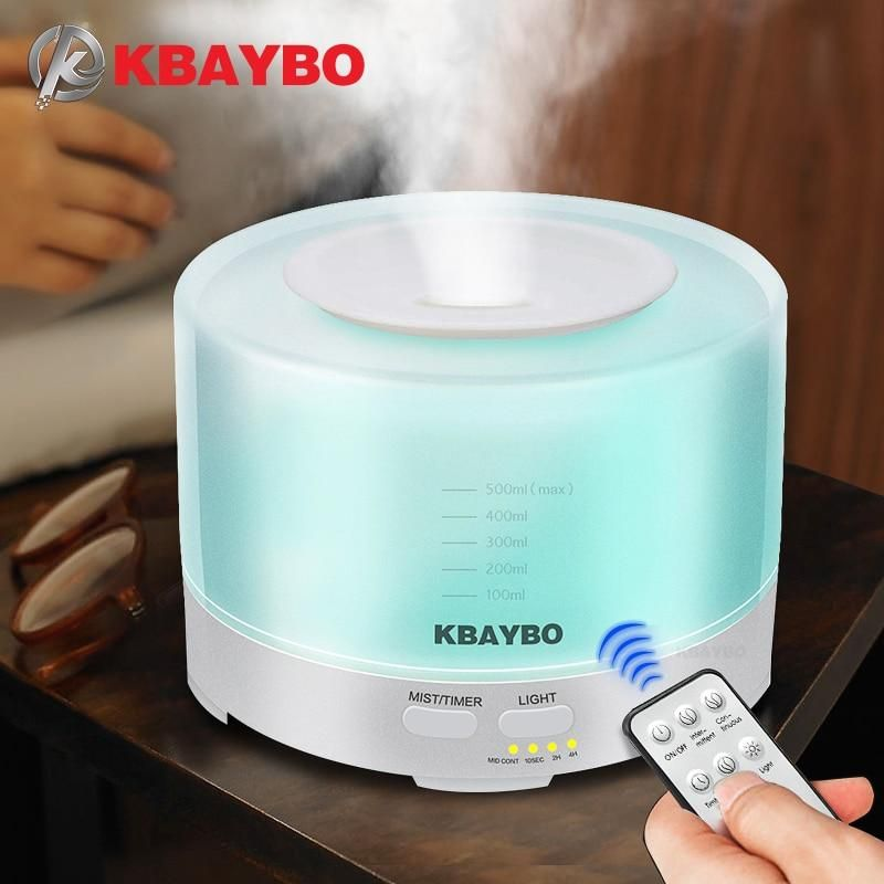 500ml Air Ultrasonic Lamp Humidifier Air Purification Essentiel Oil Aromatherapy