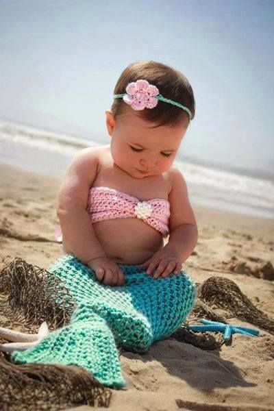 Baby Crochet Mermaid Costume For Your Princess Photographs