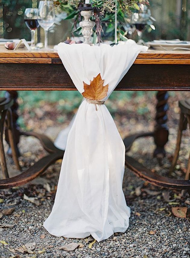 15 gorgeous leaf ideas to help inspire your fall wedding.