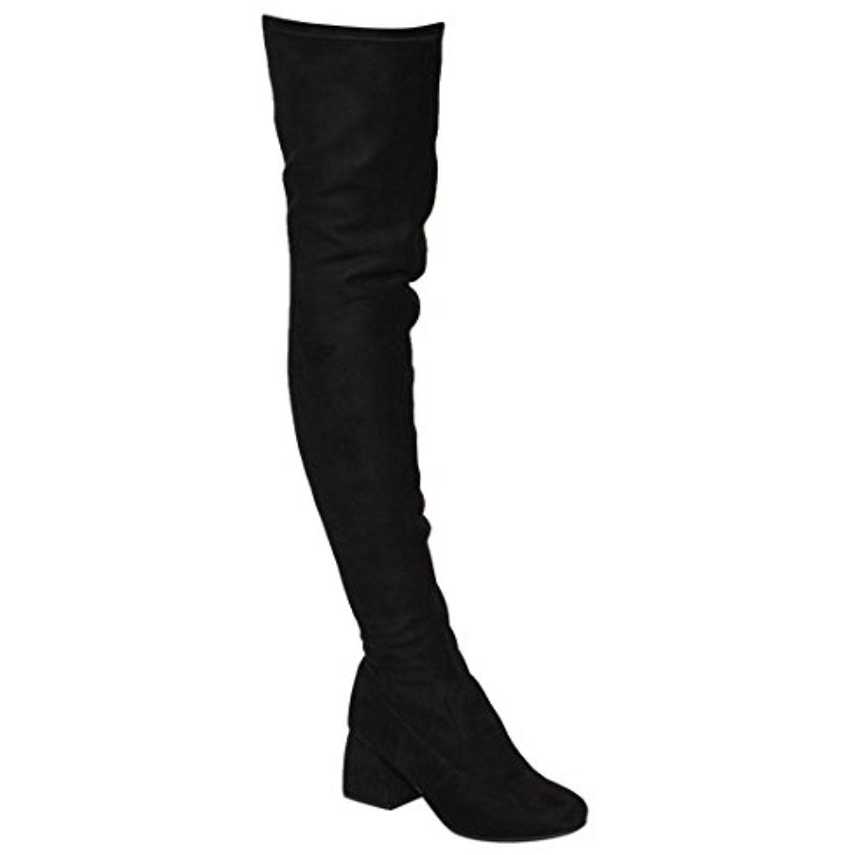 Fm37 womens stretchy snug fit thigh high side zipper