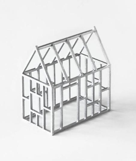 This shining beauty just arrived in the shop! The Silver Geometric Birch House $37.50