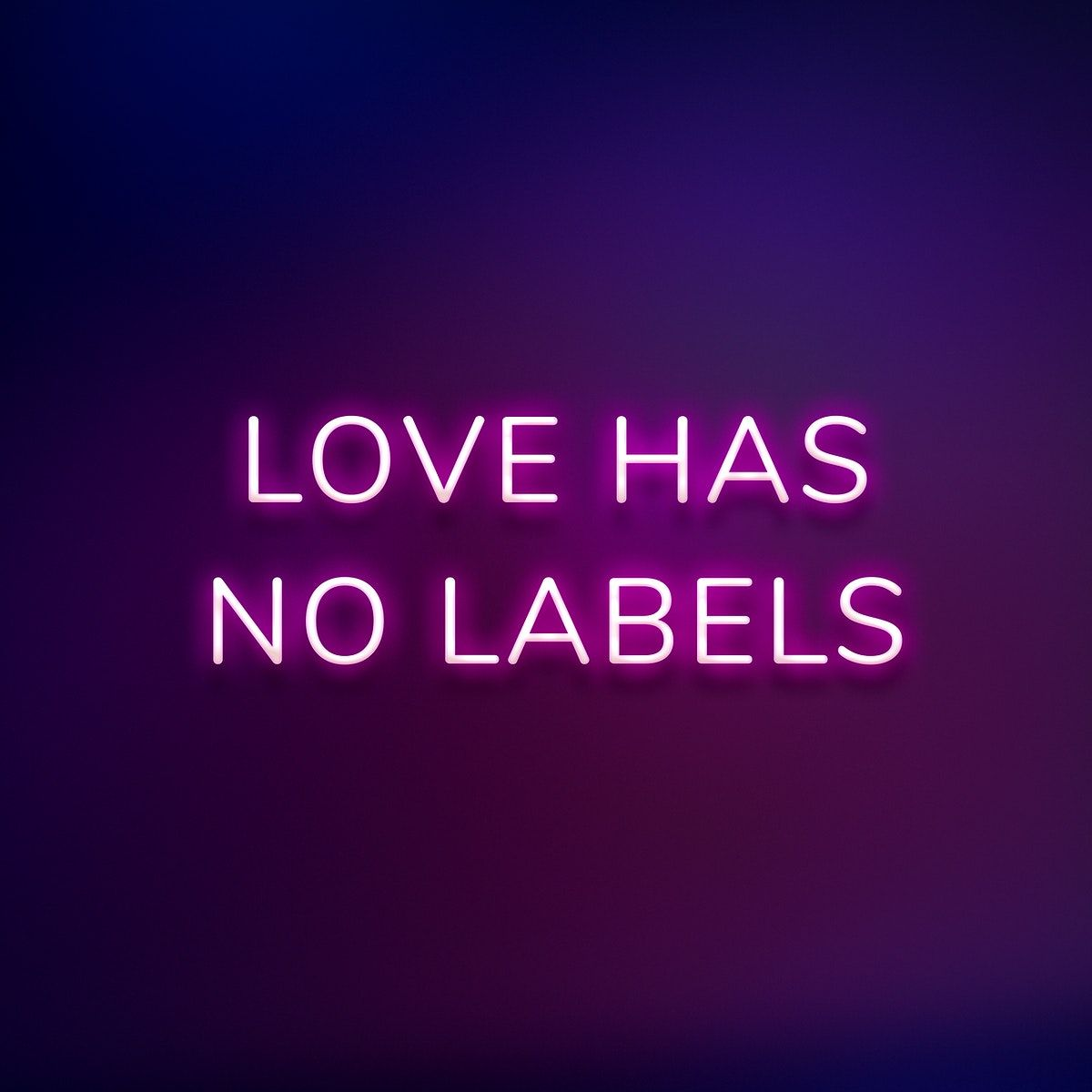 Love Has No Labels Neon Quote Typography On A Purple Background Free Image By Rawpixel Com Nunny In 2020 Neon Quotes Love Has No Labels Neon Words