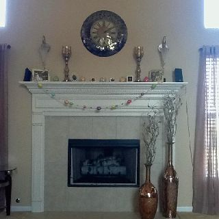 Fireplace Vases Clock And Mantel Decor From Pier One