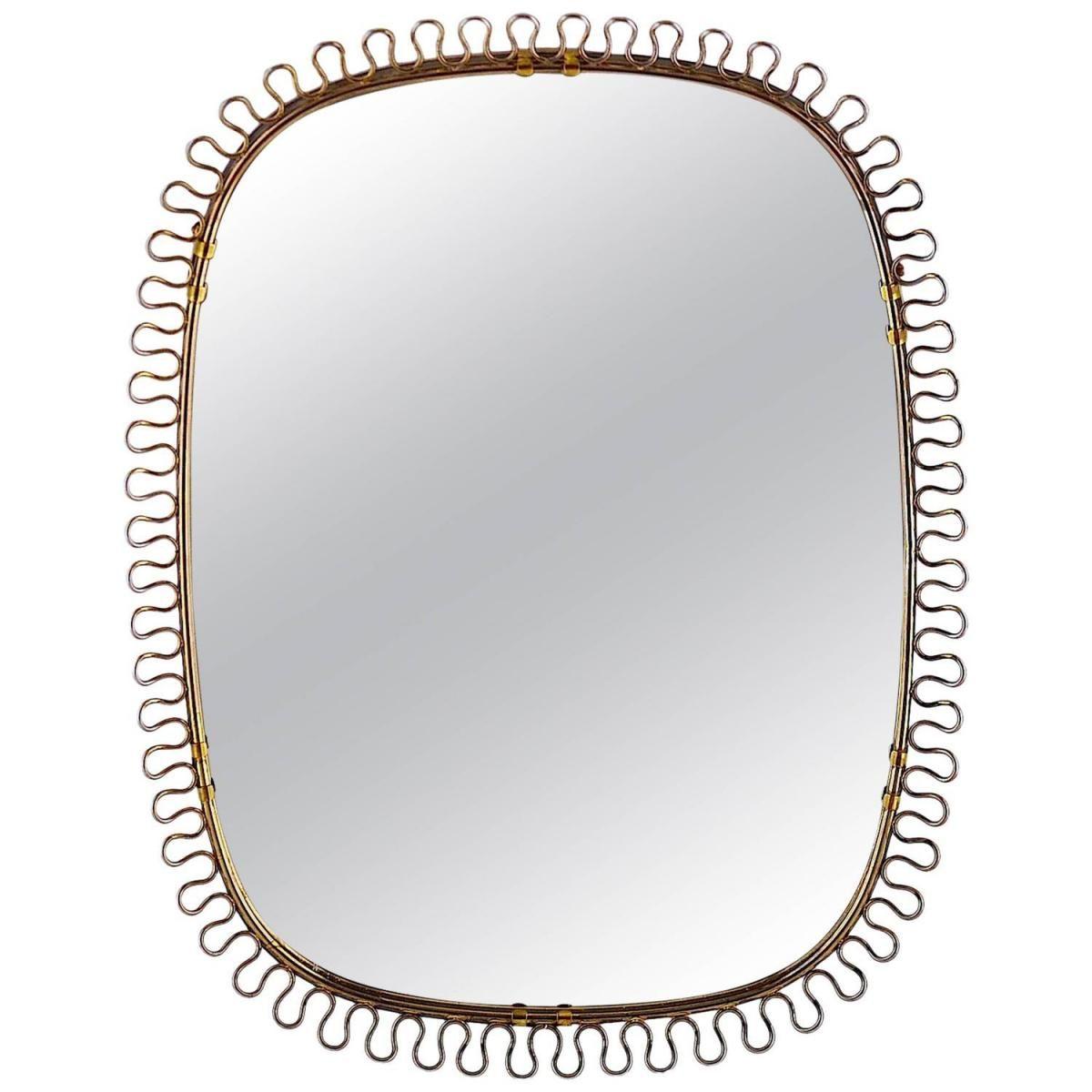 messing spiegel   designer möbel   messing beistelltisch ... - Spiegel Modern