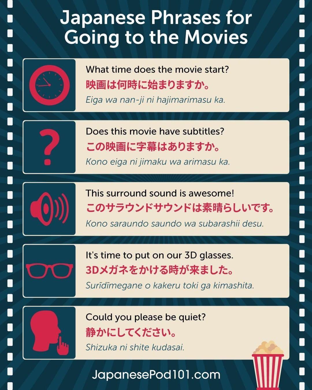"JapanesePod101 on Instagram ""Do you know how to say MOVIE"
