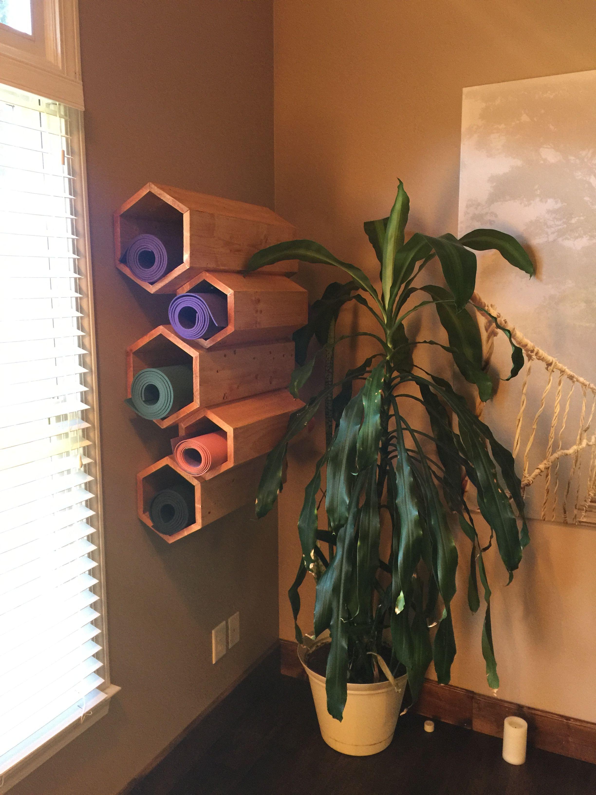 Diy Yoga Mat Holder For Home Yoga Room Home Yoga Room Yoga Decor Yoga Room Design