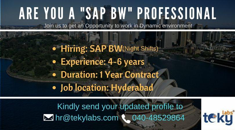 SAP BW Jobs Contract jobs, Job, Sap