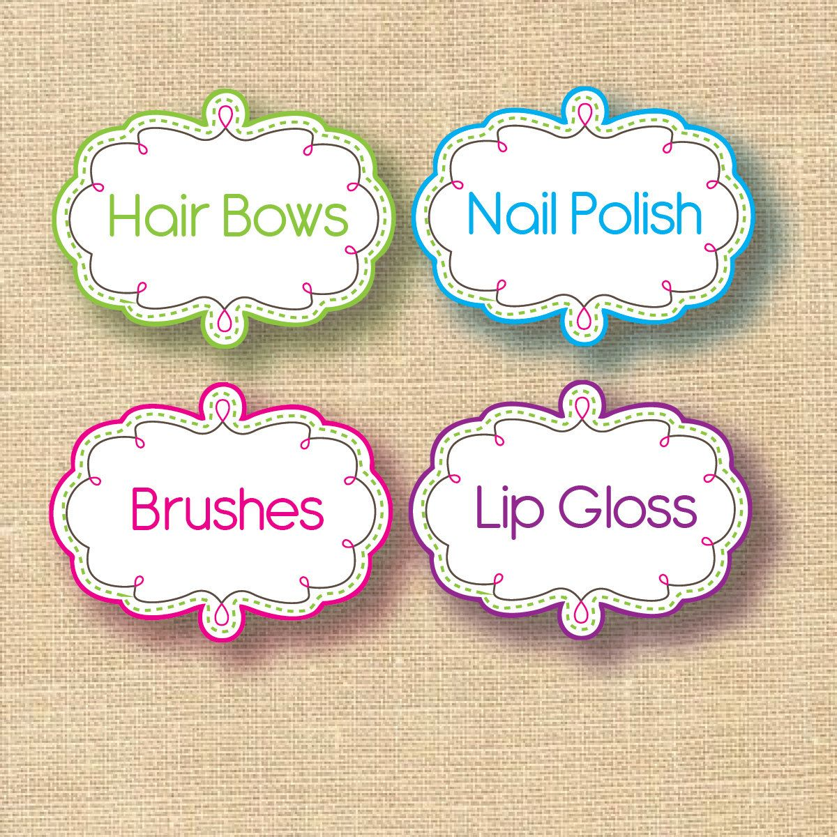 Personalized Home And Office Organization Labels Set Of 9