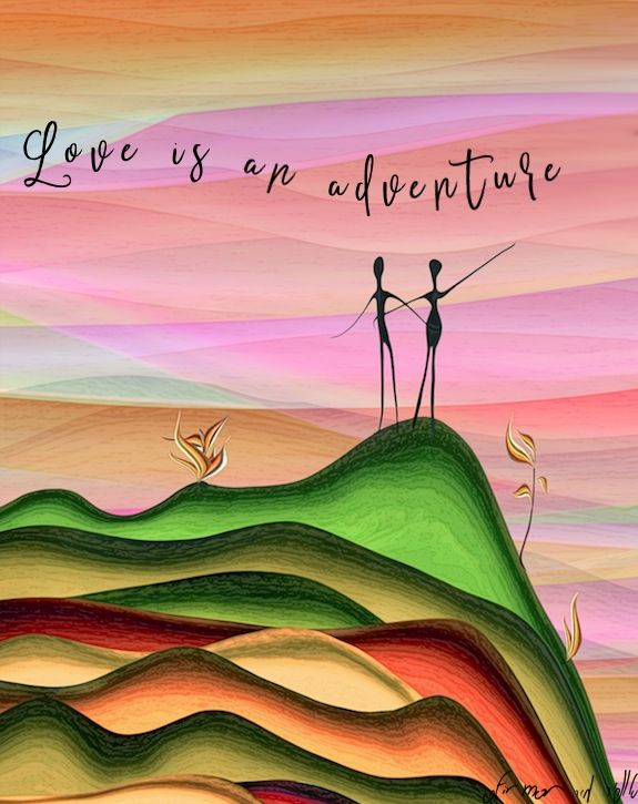 love is an adventure naive digital art by ofir mor image leads