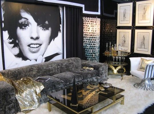 Ken Fulk Designed Hollywood Regency Living Room