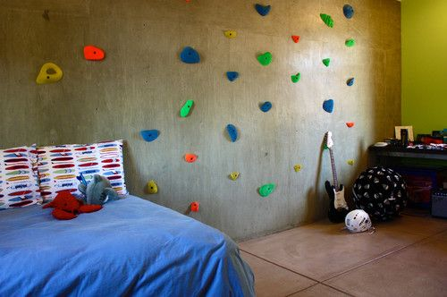 Modern Homes Featuring A Rock Climbing Wall   Home Decorating Trends