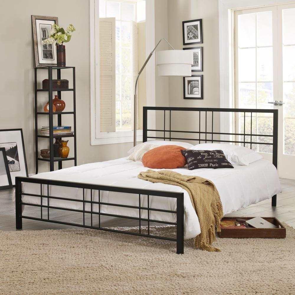 Courta Black Queen Bed Frame | Pinterest
