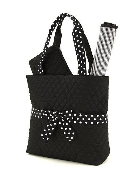 Quilted diaper bag by ScarlettsBoutique on Etsy, $35.00, I don't have to use it as a diaper bag, do I?
