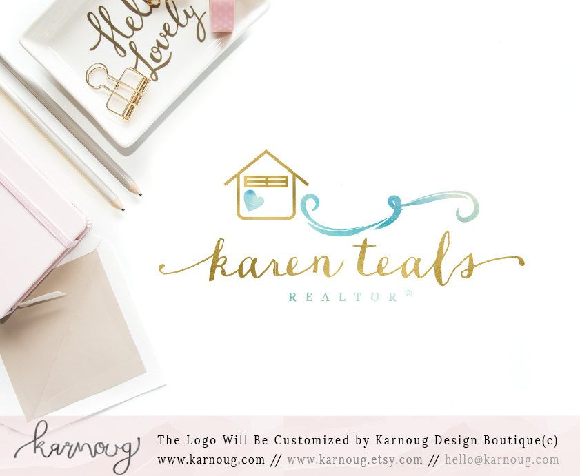 Real Estate Logo|Realtor Logo|House Logo|Sea Logo|Gold Logo|Premade ...