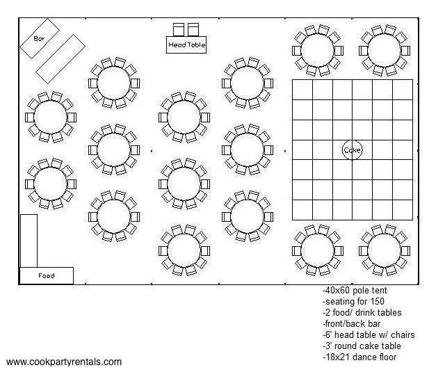 40 X 60 Tent Layout 3 Seating Wedding Tent Layout Backyard Tent Wedding Wedding Table Layouts
