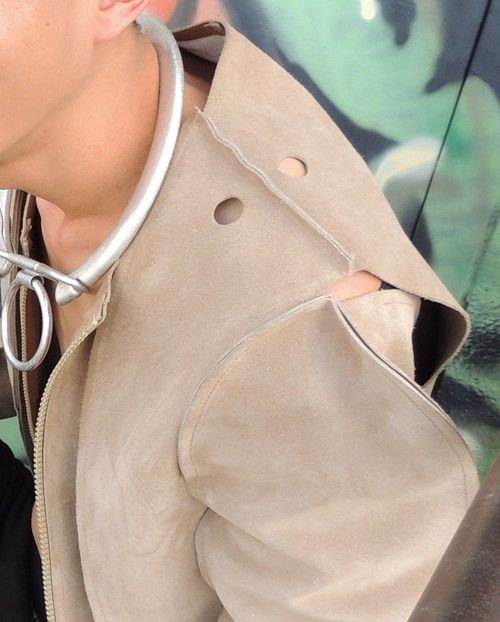 Concert, belt, combat  boots, designers, fall 2013, jacket, leather, men's  fashion, metallic necklace, neutral, ring, statement  jewelry, sunglasses, watch
