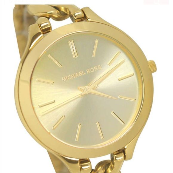 New with tags Michael Kors watch!!! Color Gold!! Beautiful gold watch ab23a93fc1