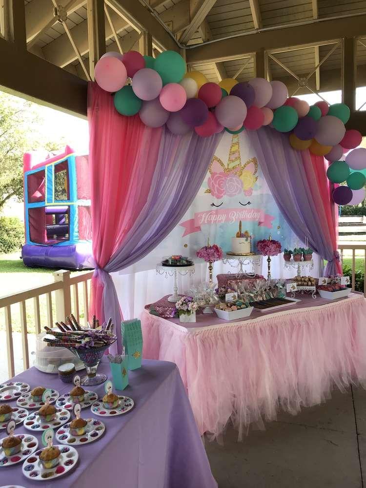 Unicorns Birthday Party Ideas Outdoors birthday party