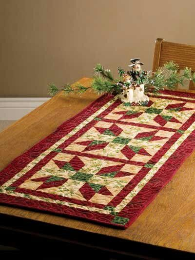 17 Best Images About Christmas Table Runner Quilted Stars